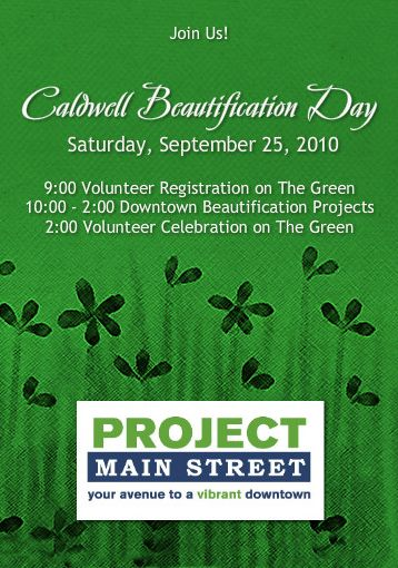 [Caldwell Beautification Day flyer]