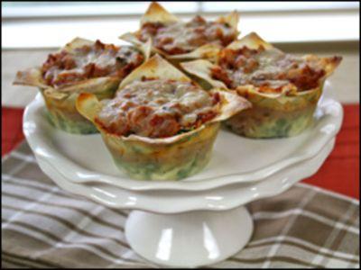 [Lasagna Cupcake recipe]