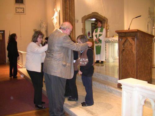 Dad and Sophie Mother of God medal ceremony