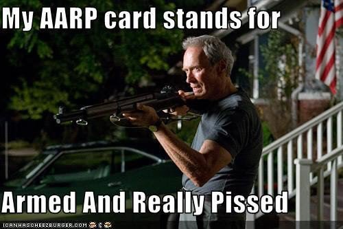 [Clint Eastwood AARP card]