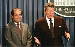 Scalia and Reagan