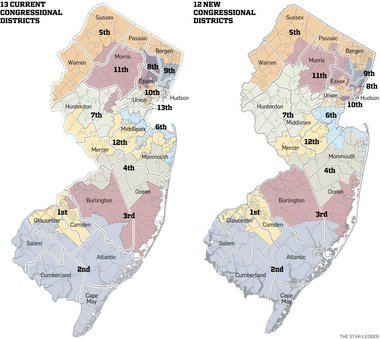 I Love The New Map Rodney Frelinghuysen S 11th District Is Expanded Further Into EsCounty S Democratic Strongholds But Not So Much As To Prevent His